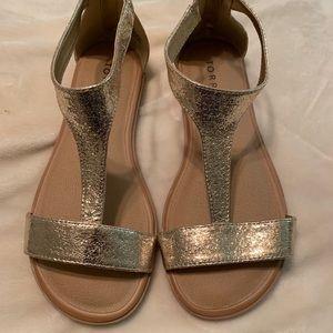 Torrid Gold Sandals